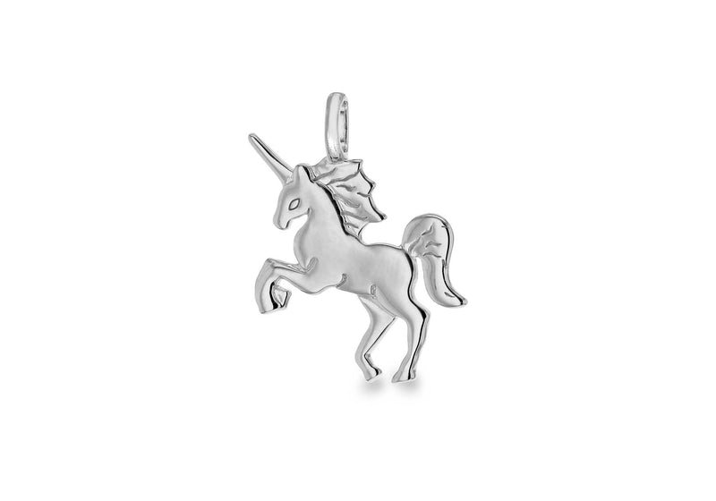 Sterling Silver Rhodium Plated Unicorn Pendant