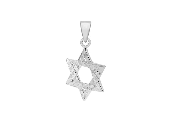 Sterling Silver Diamond Cut 'Star of David' Pendant