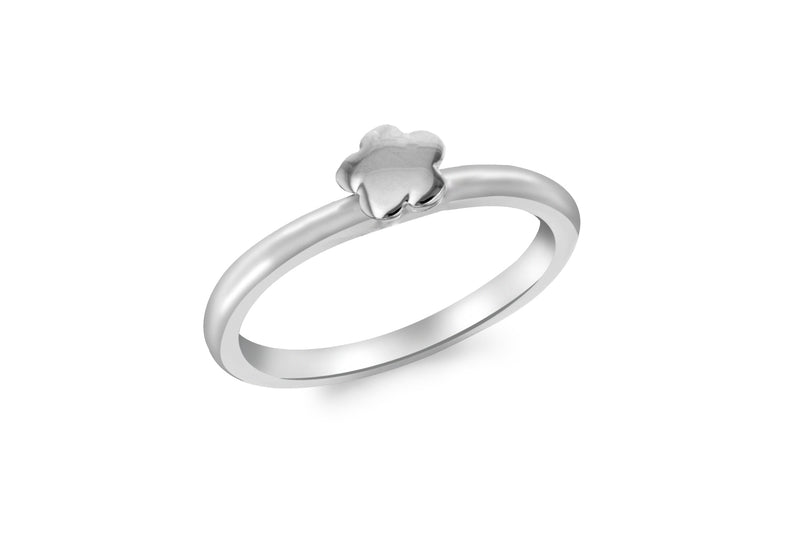 Sterling Silver 5.5mm x 5mm Polished Flower Ring