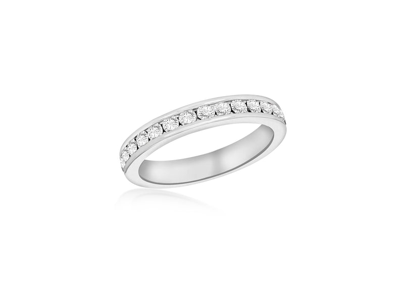 Sterling Silver White Crystal Eternity S Ring