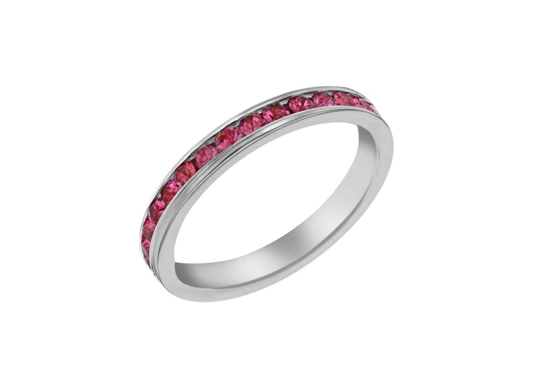 SILVER PINK Crystal ET S Ring