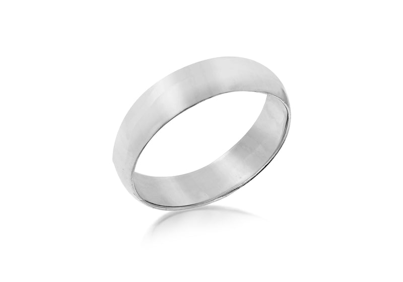 SILVER 5MM THUMB Ring