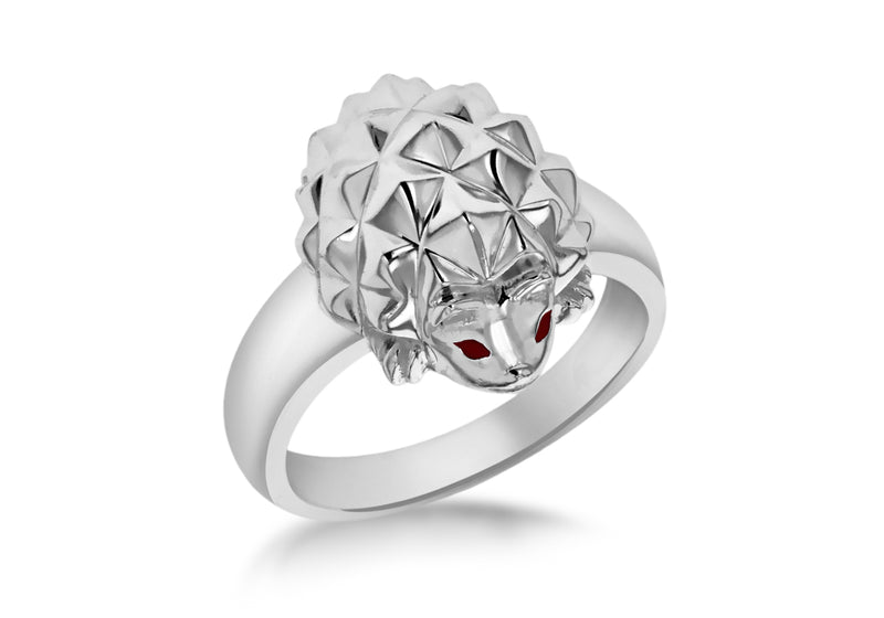 Sterling Silver Hedgehog Ring