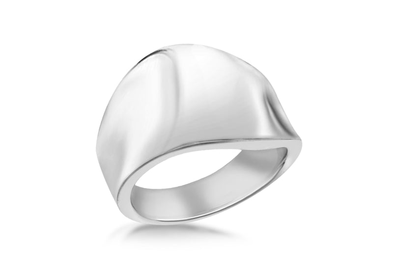 SILVER R20229 PLAIN WAVE Ring