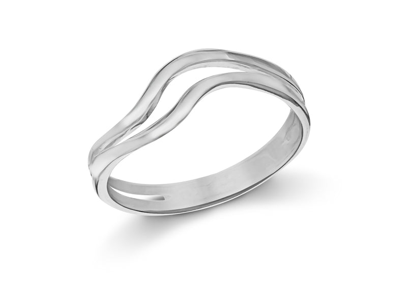SILVER DOUBLE WAVE Ring