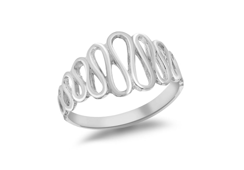 SILVER TAPPER WAVE Ring