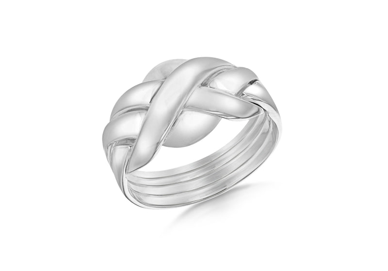 Sterling Silver Four Band Puzzle Ring