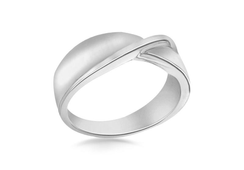 SILVER PLAIN TWIST Ring