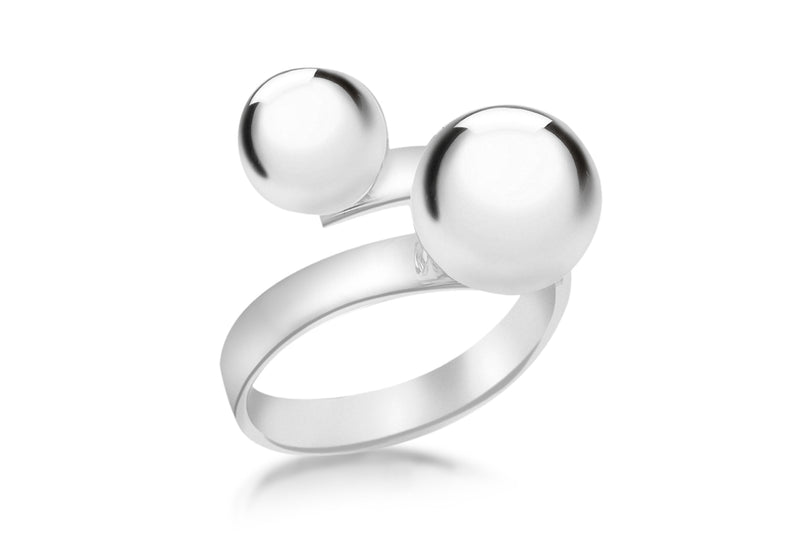 SILVER 8 & 10MM BALL Ring
