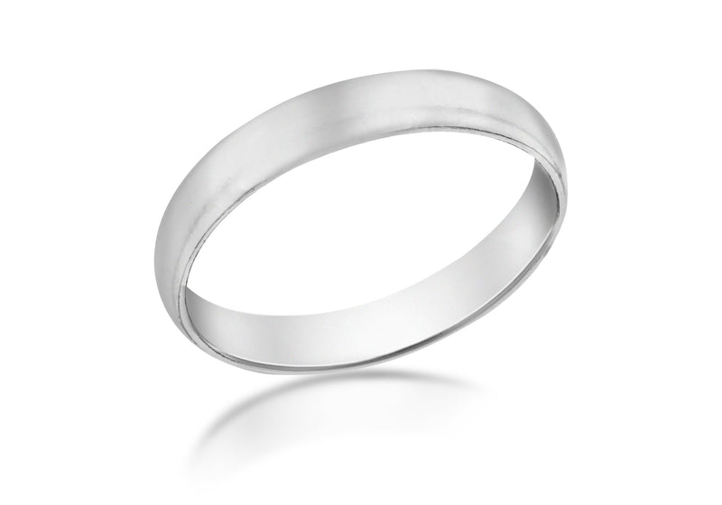 SILVER RHOD 4MM BAND Ring
