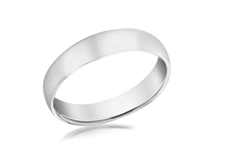 SILVER RHOD 5MM BAND Ring