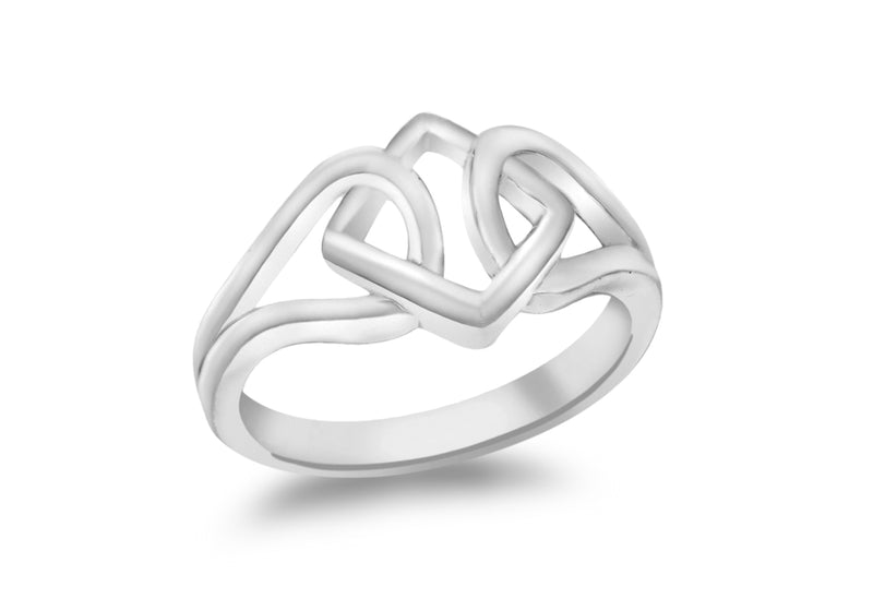 SILVER TRI & LOOP KNOT Ring