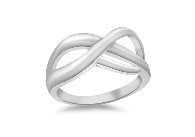 SILVER CrossOVER KNOT Ring