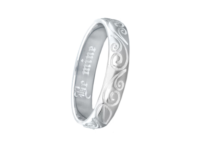 "Sterling Silver ""Be Mine"" Post Ring"