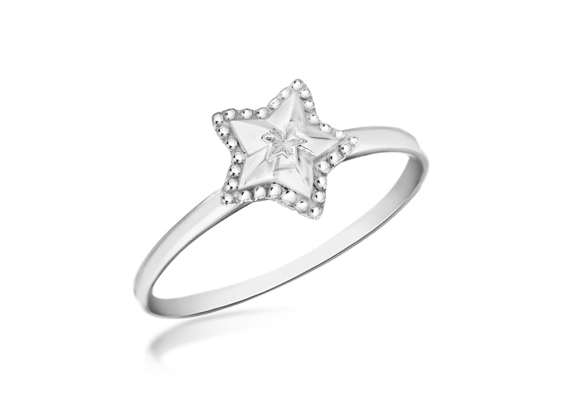 Sterling Silver D Star Ring