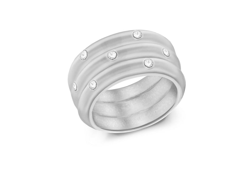 SILVER RS565 7Zirconia  BAND Ring