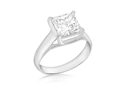 SILVER 8MM SQUARE Zirconia  Ring