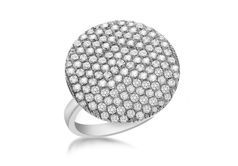 SILVER WHITE Zirconia  Circle Ring