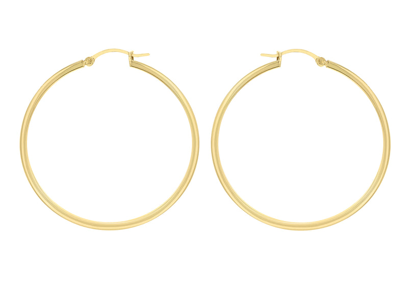 Sterling Silver Yellow Gold Plated Creole Earrings