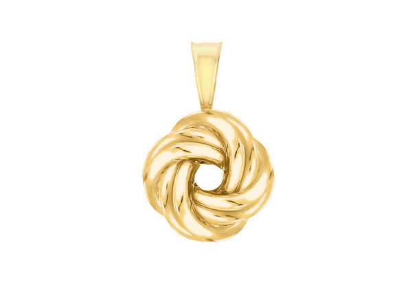 Sterling Silver Yellow Gold Plated Knot Pendant