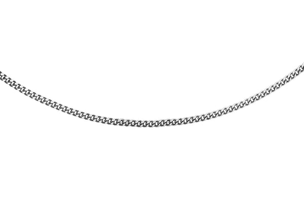"Platinum 25 Diamond Cut Curb Chain 41m/16""9"