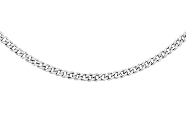 Platinum 50 Diamond Cut Curb Chain
