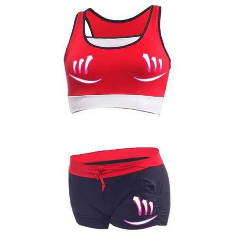 Shockproof Outfits Wireless Fitness Running Bra Set