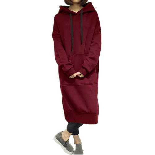 7 Colors Hooded Sweatshirt Dress