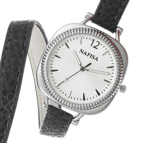 NAFISA Elegant Women Quartz Watch Fashion Strap Gift Watch Casual Ladies Dress Bracelet Watch
