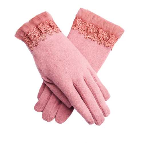 LYZA Women Warm Elegant Wool Gloves