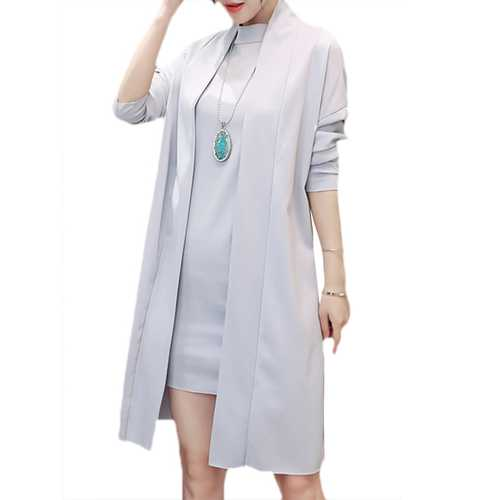 Elegant Women Slim Two-piece Outfits Batwing Sleeve Long Sleeve Dresses