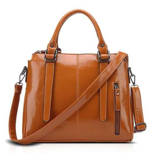 Women Quality Oil Wax Leather Elegant Handbag Shoulder Bag Crossbody Bag