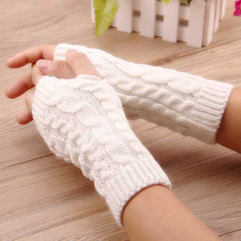 Crochet Knitting Warm Winter Hand Warmer Gloves