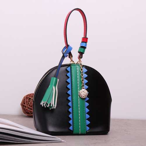Brenice Women Retro Mini-Shoulder Bag Tassel Handbag