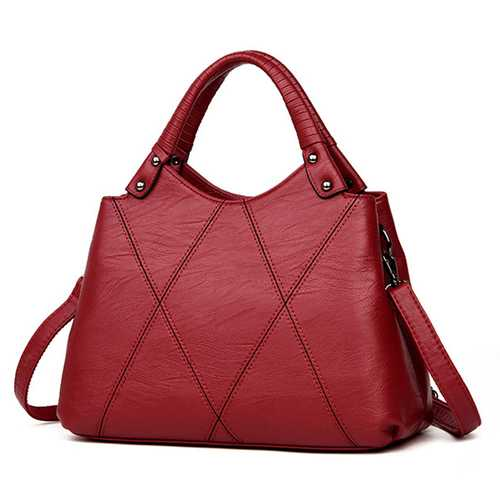 Women Pu Leather Tote Handbag Classic Crossbody Bag