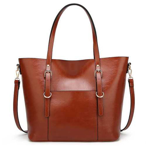 Women Solid Color Tote Bag