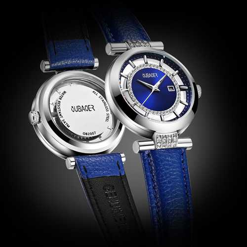 OUBAOER OB2007 Blue Rhinestone Women Quartz Wrist Watch