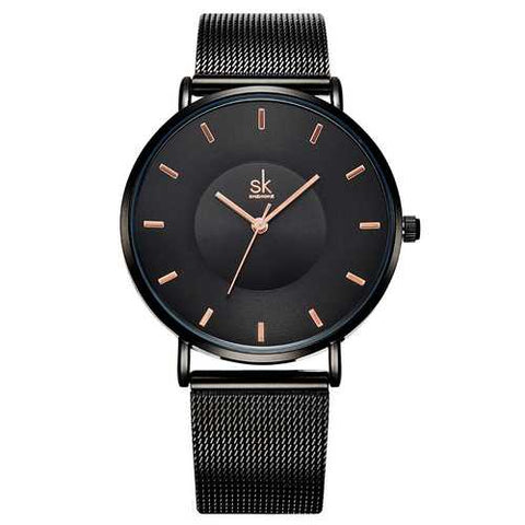 SK K0059 Ultra Thin Fashionable Full Steel Women Wrist Watch