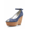 Hogan Womens Wedge Sandal Blue HXW2000I440CR0U822