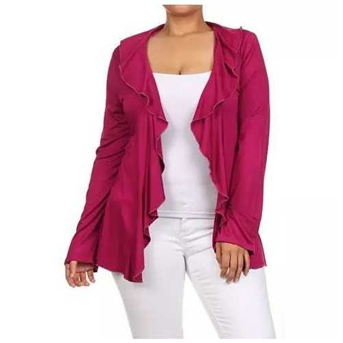 FRILLS & THRILLS Cardigans In 3 Colors and Plus Sizes