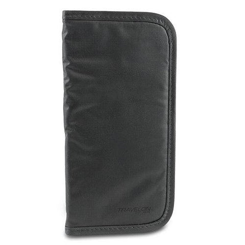 Travelon Luggage Safe ID Checkbook Wallet (Black)