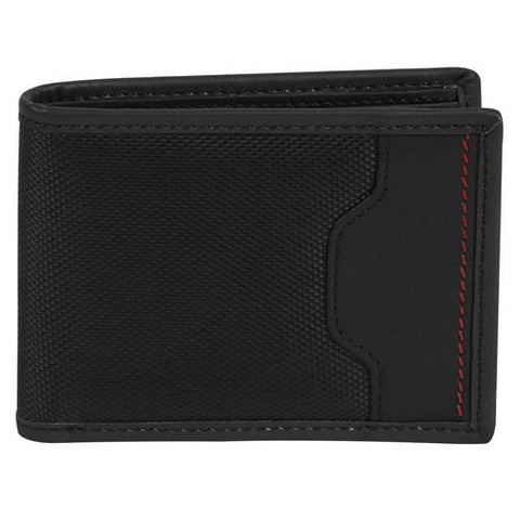 Travelon SafeID Hack-Proof Accent Deluxe Billfold Wallet w/ RFID Blocking, Black