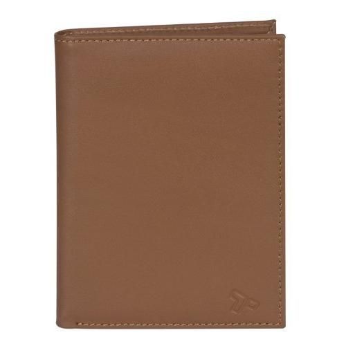 Travelon SafeID Leather Passport Holder Wallet, Saddle