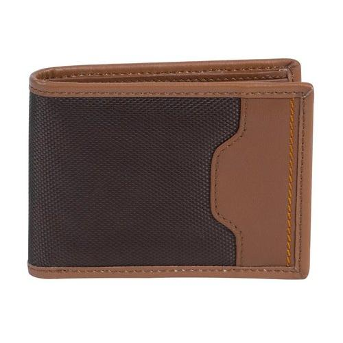 Travelon SafeID Hack-Proof Accent Billfold Wallet w/ RFID Protection, Saddle
