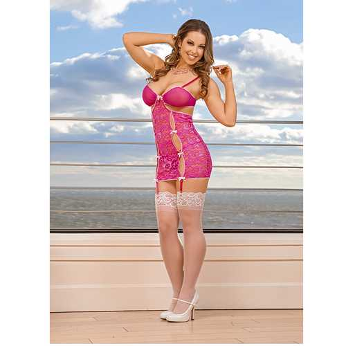 MS PeekaBow Chemise & Gstring Pink L/XL