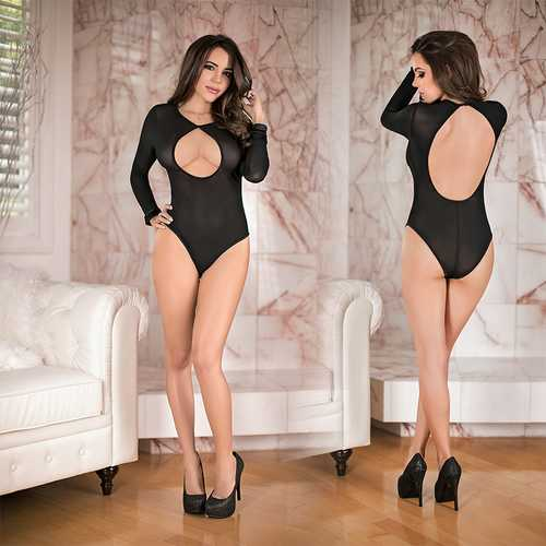 MS Simply Wicked Long Slv Teddy Blk S/M