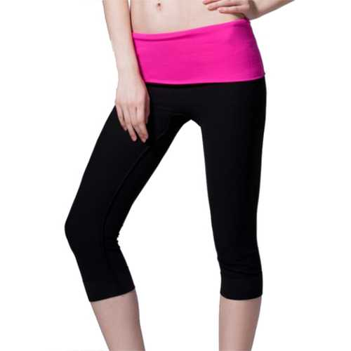 Fashion Modal Elastic Slimming Yoga Running Fitness Cropped Trousers