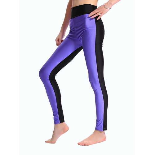 High Waist Female Quick Suck Sweat AB Face Double Bright Color Yoga Running Workout Sports Pants