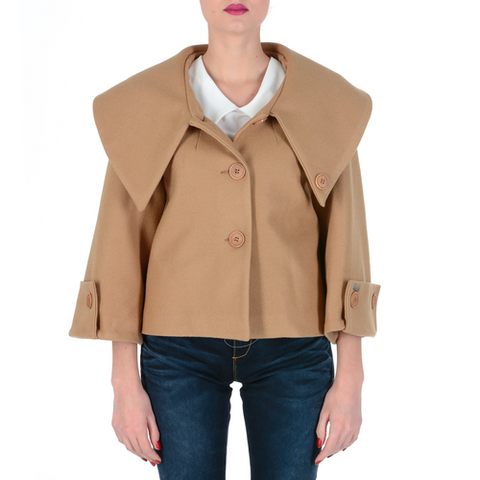 V 1969 Italia Womens Jacket Long Sleeves Camel LUCY