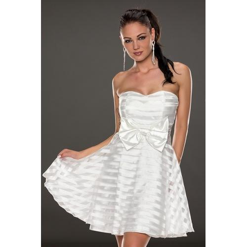 White strapless beauty skirt dress